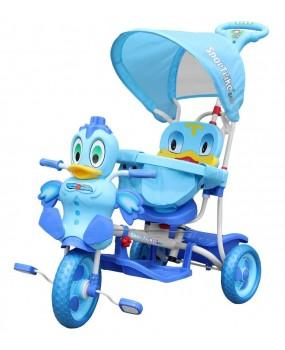 Detská trojkolka káčer modrá